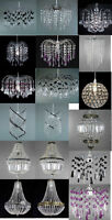 MODERN ACRYLIC CRYSTAL DROP CEILING CHANDELIER PENDANT LIGHT HANGING LAMP SHADES