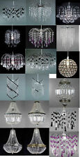 MODERN ACRYLIC & K9 CRYSTAL CEILING CHANDELIER PENDANT LIGHT HANGING LAMP SHADES