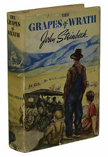 The Grapes of Wrath ~ JOHN STEINBECK ~ First Edition 1939 ~ 1st Printing Jacket