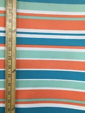 CORAL STRIPED Canvas Fabric Waterproof Outdoor 600 Denier (60 in.) Sold BTY