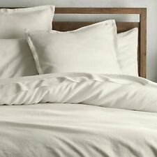 Crate & and Barrel Lino Ivory Euro Pillow Sham x 1- Linen- Nwot- New- Fabulous!