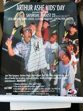 Andre Agassi 27x39 Poster Signed at Flushing Meadow Park for Arthur Ash Kids Day
