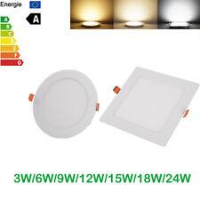 Recessed LED Ceiling Panel Light Ultra Slim Down Lights 3W 6W 9W 12W 15W 18W 24W