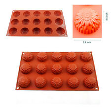 15-Cavity Silicone Mold Cake Decorating Mould Cookie Chocolate Candy Tray Baking