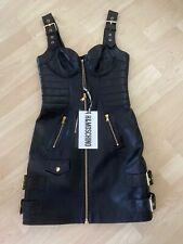 H&MOSCHINO Moschino Lederkleid Dress Leather EUR Größe 36 Size US 4 UK 8