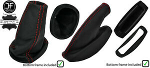 RED STITCH LEATHER BOOTS COVERS AND FRAMES FOR LOTUS ELISE EXIGE 2004-2014