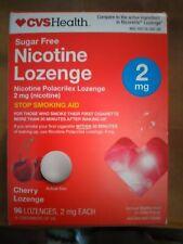 CVS Nicotine Lozenge 2 mg Sugar-Free CHERRY 96 LOZENGES  EXP : 01/2021+