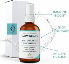 Colloidal Silver Spray by NowDrops (Antibacterial Spray, Immune Boost, and Skin)
