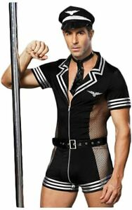 Men's Costume Sexy Cosplay Uniform Set Role Play Costumes Lingerie for Halloween