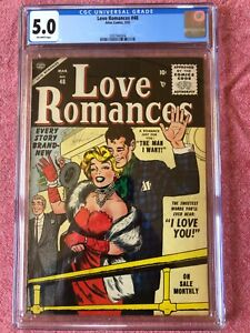 LOVE ROMANCES 48 CGC 5.0 OW PAGES. MARILYN MONROE COVER BY COLLETA SCARCE
