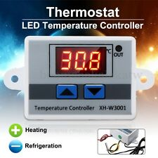 220V 10A 1500W Digital Led Temperature Controller Thermostat + Switch Probe New