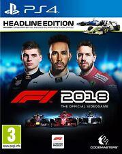 Formula 1 2018 (F1 2018) Headline Edition PS4 *PRE-ORDER ITEM* Release 24/08/18