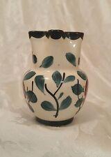Erphila Art Pottery Cream Pitcher of Czecho Slovakia, Hand Painted