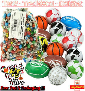 1 - 1000 Milk Chocolate Footballs Rugby Golf Sports Balls Basketballs Favours