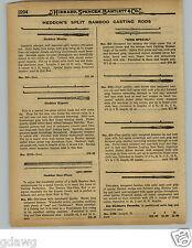 1929 PAPER AD Heddon Expert Split Bamboo Casting Fishing Rod Favorite