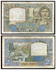 20 francs  SCIENCE ET TRAVAIL    6/ 6/ 1940     Z 548