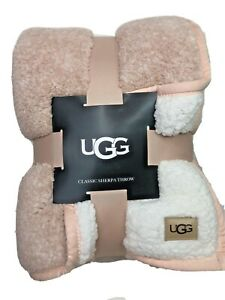 "UGG Classic Sherpa Throw Blanket in Quartz Melange Blush/Pink 50"" x 70"""