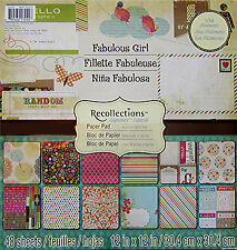 Recollections (Simple Stories - Fabulous Girl)  12x12  Paper Pad - Save 50%