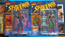 Marvel Legends Retro Spider-Man and Green Goblin Lot of 2 In Hand! Ready to Ship