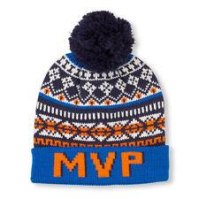 Boys 'MVP' Fair Isle Print Pom Pom Beanie size L/XL (8+YR)