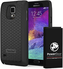 PowerBear Samsung Galaxy Note 4 Extended Battery [7500mAh] Back Cover Case (Up