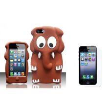 Fundas y carcasas color principal marrón de silicona/goma para teléfonos móviles y PDAs Apple