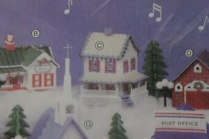 CHRISTMAS INN MARY MAXIM cross stitch plastic canvas kit MUSICAL VILLAGE  NIP