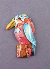 ORIGINALE c1960s BANDA STAGNATA Ballerina Bird Pin Badge-OGGETTO VINTAGE NON UTILIZZATO stock