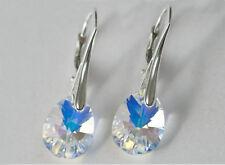 Earrings Swarovski Pear 12mm Sterling Silver 925