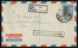 MayfairStamps Malaya Ipoh Registered to Singapore Posted Out Of Course Air Mail