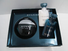 """AQUA POUR HOMME - BULGARI"" PROFUMO UOMO EDT 50ml SPRAY+AFTER SHAVE+SHOWER GEL"