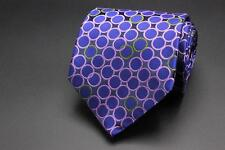 TED BAKER London Silk Tie. Blue with Purple & Green Geometric.