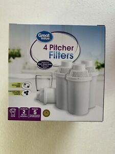 4 Pack Great Value Replacement Pitcher Filters Universal Brand New