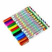 12 Color Assorted Colour White Board Marker Pens Dry Erase Easy Wipe_F