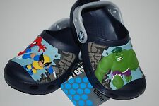 NWT CROCS MARVEL SUPERHERO SQUAD KIDS CLOGS 6/7 8/9 10/11 12/13 navy shoes
