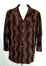 Pronti by Phita Mens XL Jacket Coat Blazer Faux Pony Hair Brown Lined NICE!