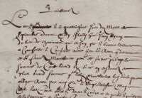 1669 Acte ancien manuscrit Ardèche St-Jeure-d'Ay MONTLEVIER DUNOYER PICHONNIER