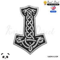 Thor Hammer Vikings Embroidered Iron On Sew On Patch Badge For Clothes Bags etc