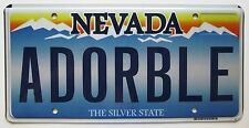 Nevada 2012 VANITY License Plate ADORABLE