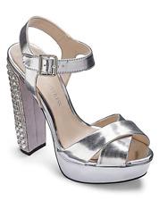Little Mistress Darcy Womens UK 6 EU 39 Silver High Heel New Platform Sandals
