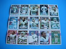 """1989 TOPPS """" NEW YORK JETS"""" FOOTBALL COMPLETE TEAM SET W/TRADED (20) CARDS"""