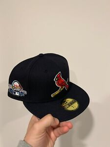 Brand New New Era St. Louis Cardinals 2009 ASG Patch Navy Sky UV 7 1/2 Hat