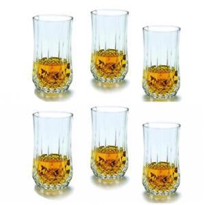 Set of 6 or 12 Hi Ball Premium Quality Diamond Crystal Glassware Drinking Glass