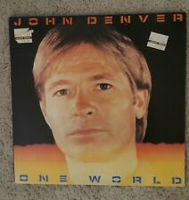 JOHN DENVER 'ONE WORLD' LP RECORD