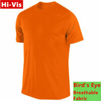 Hi Vis T Shirts High Visibility Safety Work Neon Orange Sports Wear Short Sleeve