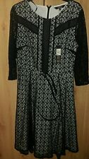 BNWT Star by Julian Macdonald at Debenhams black lace evening dress size 14