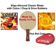 Table Tennis Bat: Stiga Allround Classic Blade +Cobra +Chop & Drive 1.8mm Rubber