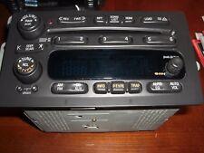 2001-2003  GM CHEVY S10 BLAZER EXRESS VAN 6 CD CHANGER RADIO W/O BOSE 15074589