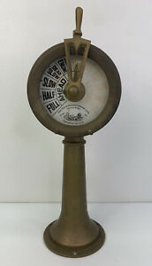 "15"" 1940 Vintage Nautical Brass Ship Engine Room Telegraph Neptune Works"