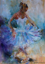 "NEW SUPERB ORIGINAL SERA KNIGHT S.W.A ""Curtsy"" Ballet Dance Girl PAINTING"